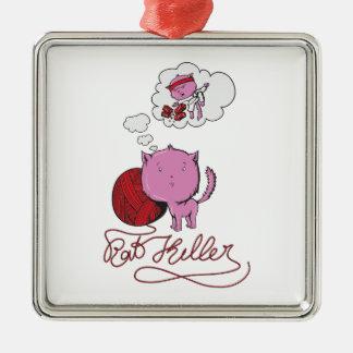 sweet kittie or rat killer christmas ornaments