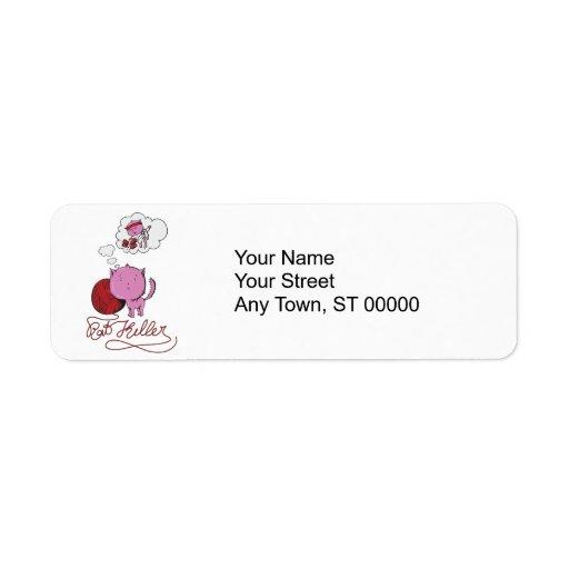 sweet kittie or rat killer return address labels