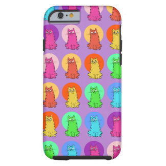 sweet kitties multiple color tint funny cartoon tough iPhone 6 case
