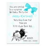 """Sweet Kitty Face Birthday Party Invitation 4.25"""" X 5.5"""" Invitation Card"""