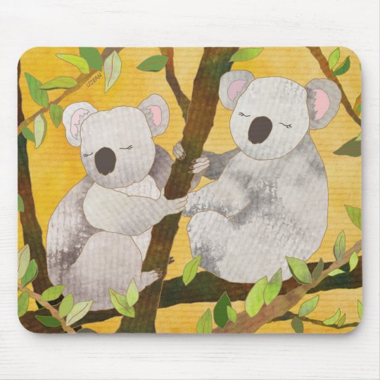 Sweet Koala Bears Mouse Pad
