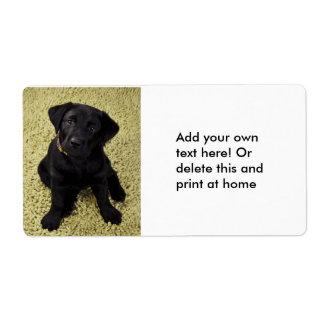 Sweet Lab Puppy Label