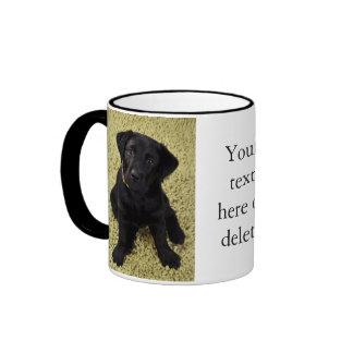 Sweet Lab Puppy Ringer Coffee Mug