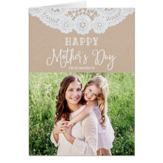 Sweet Lace | Mother's Day Photo Greeting Card