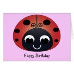 Sweet Ladybug Birthday Card
