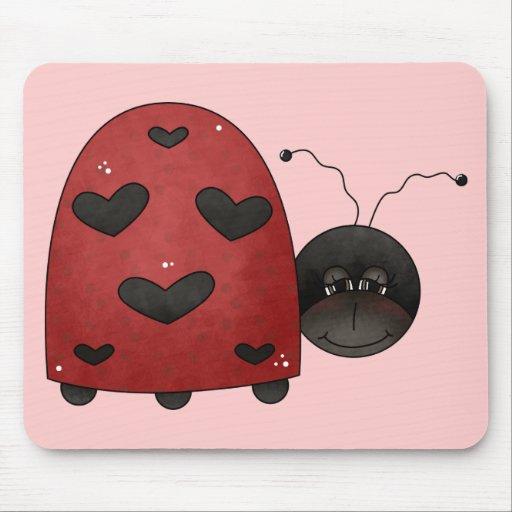 Sweet Ladybug Mouse Pad