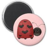 Sweet Ladybug Refrigerator Magnet
