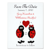 Sweet Ladybug Save the Date Announcements (<em>$2.06</em>)