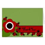 Sweet Ladybug Thank You Note Stationery Note Card