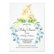 Sweet Lamb Boys Baby Shower Invitation
