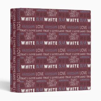 Sweet Land of Liberty Notebook, Journal Binder