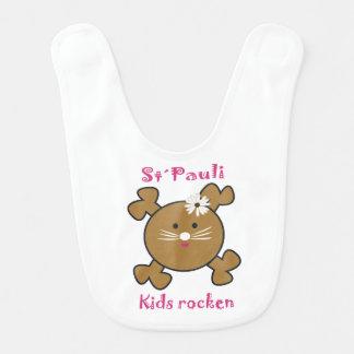 Sweet Lätzchen for small St. Pauli fan Bib