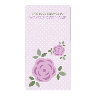 Sweet Lavender Floral Label