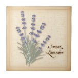 """Sweet Lavender Herb and Flowers Ceramic Tile<br><div class=""""desc"""">Sweet Lavender Herb, fragrant flowers are a classic ingredient of the French herb blend Herbes de Provence, a regional favorite of southern France. See more products with this design in this store&#39;s Herbs and Spices Category/ Sweet Lavender. Just click my store link or icon and scroll to find them. Visit...</div>"""