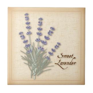 Sweet Lavender Herb and Flowers Ceramic Tile