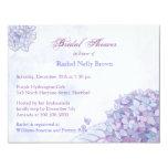 Sweet Lavender Hydrangea Floral Bridal Shower Card