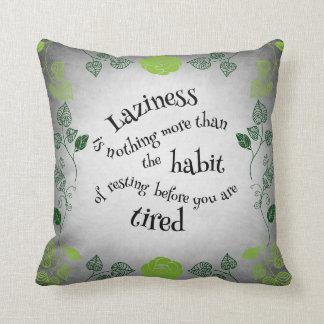 Sweet Laziness Throw Pillow