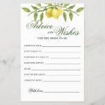 "Sweet Lemons &  Greenery Advice and Wishes card<br><div class=""desc"">Elegant Blush Rose Greenery Advice and Wishes card. For additional customization,  feel free to contact me!</div>"