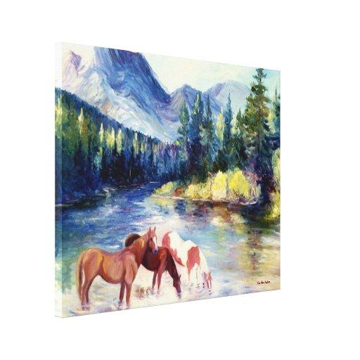 Sweet Liberty Wild Horses Canvas Prints