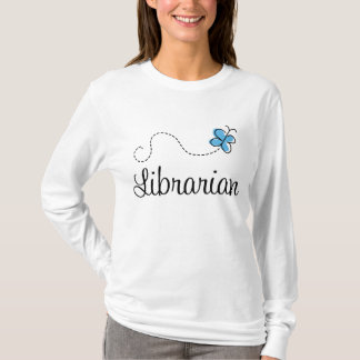 Sweet Librarian Butterfly Womens Tee Shirt