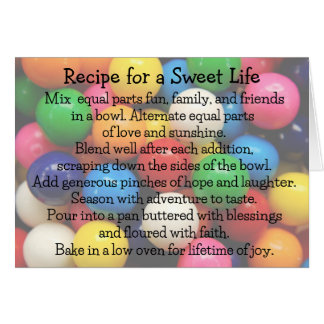 Sweet Life Colorful Gumballs Cards