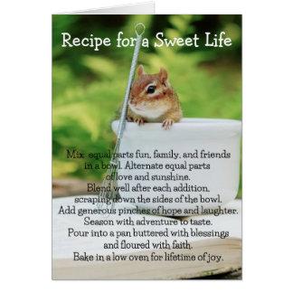 Sweet Life Little Chipmunk Greeting Card