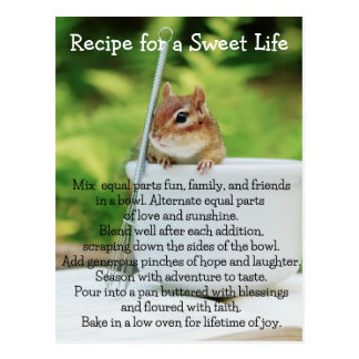 Sweet Life Little Chipmunk Post Card