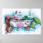 Sweet Life, Mermaid in a Bathtub Poster