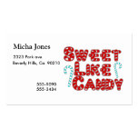 Sweet Like Candy Business Card Templates