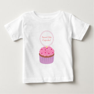 Sweet Like Cupcake Pink Treat for Baby Girls Baby T-Shirt