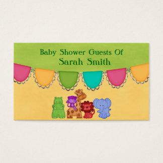 Sweet Lil Jungle Animals Safari Baby Shower Business Card