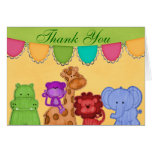 Sweet Lil Jungle Animals Safari Baby Shower Greeting Card