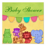 Sweet Lil Jungle Animals Safari Baby Shower Personalized Invitation