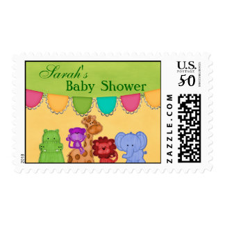 Sweet Lil Jungle Animals Safari Baby Shower Postage