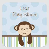 Sweet Lil Monkey Envelope Seals Stickers
