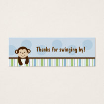 Sweet Lil Monkey Party Favor Gift Tags