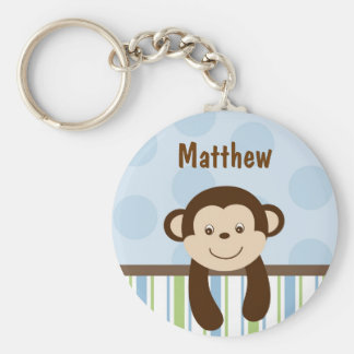 Sweet Lil Monkey Personalized Key Chain