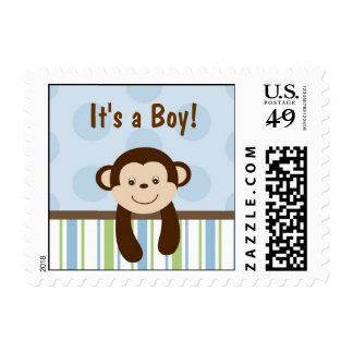 Sweet Lil Monkey Personalized Postage Stamps