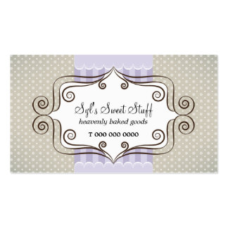 Sweet Lilac and Polka Dots Double-Sided Standard Business Cards (Pack Of 100)