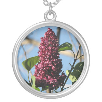 Sweet Lilac Round Pendant Necklace