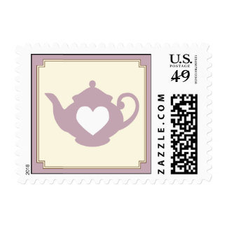 Sweet Lilac Teapot Tea Party Postage Stamp