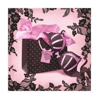 Sweet lingerie canvas print