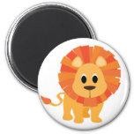 Sweet Lion 2 Inch Round Magnet
