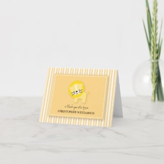 Sweet Lion Kids Thank-You Card (lemon) card