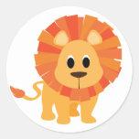 Sweet Lion Round Stickers