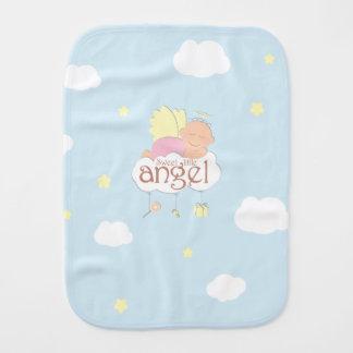 Sweet little angel blue burp cloth