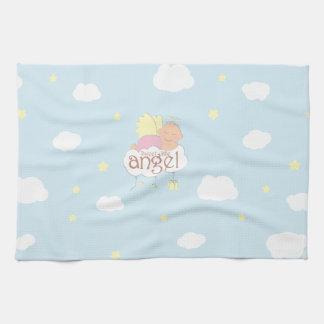Sweet little angel blue kitchen towel