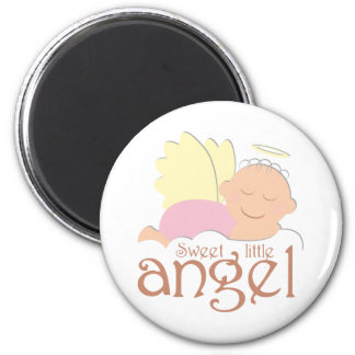 Sweet little angel logo magnet