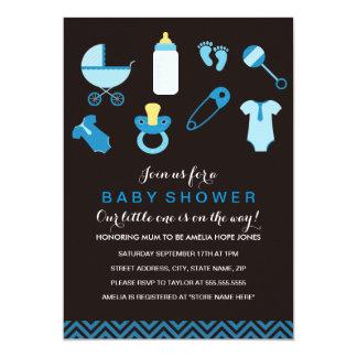 Sweet Little Baby Boy Baby Shower Invite