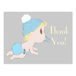 Sweet Little Baby Boy Thank You Note Postcards